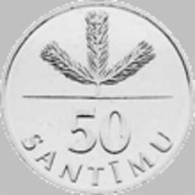 Latvia Coin 50 Santimu -2007 Y - UNC - Letland