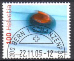 Zu 1181 / Mi 1949 / YT 1875 Sport JO Turin Curling Obl. 1er Jour Demi-lune BERN 1 SCHANZENPOST - Switzerland