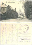 AK Hasselt 1918, Gasthuis En Noordlei, Hospital Et Boulevard De Nord, Lazarett Feldpost Nach Görlitz - Hasselt