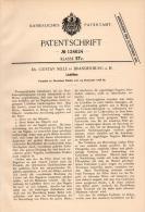 Original Patentschrift -Dr. G. Selle In Brandenburg A.H., 1898, Lichtfilter , Fotograf , Photographie , Objectiv , Foto - Zubehör & Material