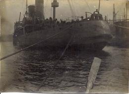 Photo -BEAU Navire Au Port  Le 01/05/1919 .2,2 X 3,2cm - Boats