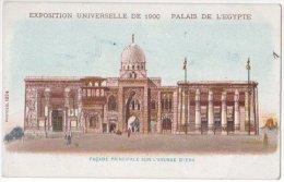 France - CP 1900 Paris Exposition Universelle Couleur Palais De L´Egypte. Façade Principale Sur L´avenue D´ Iena - Expositions