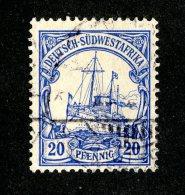 (1496)  S.W.A. 1901  Mi.14  (o)  Catalogue  € 1.80 - Colony: German South West Africa