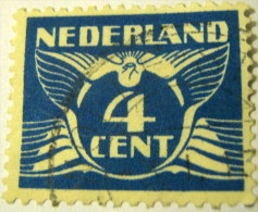Netherlands 1924 Carrier Pigeon 4c - Used - 1891-1948 (Wilhelmine)