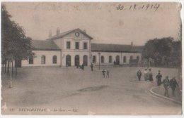 France - CP Neufchateau , Vosges (88) La Gare, 1914 Obliteration Neufchateau Vosges - Neufchateau
