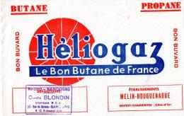 - Buvard - HELIOGAZ à GEVREY-CHAMBERTIN , Ets MELIN-HOUGUENAGUE - 990 - Electricité & Gaz