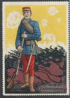 Belgium, Belgian Infantryman, Early Poster Stamp, Scarce - Cinderellas