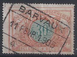 FF-/-487-.CHEMIN De FER , N° 32, OBL. BARVAUX -  PAPIER MINCE, COULEUR VIVE, AVANT 1913, COTE 2.50 € ,(  VOIR C.O.B. ) - 1895-1913