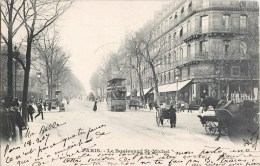 PARIS LE  BOULEVARD SAINT-MICHEL EN 1900 OMNIBUS TRAMWAY 75005 - Arrondissement: 05