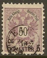 AUSTRIA TURKEY 1888 5 Pi On 50k SG 26 U TU03 - Oriente Austriaco