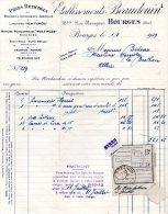 - FACTURE - 18 BOURGES - Etablissements BEAUDOIN - Machines Agricoles - 002 - Facturas & Documentos Mercantiles