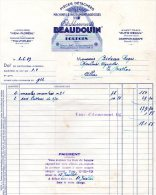 - FACTURE - 18 BOURGES - Etablissements BEAUDOIN - Machines Agricoles - 003 - Facturas & Documentos Mercantiles