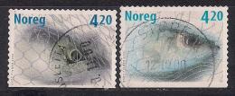 Norwegen  (2000)  Mi.Nr.  1355 + 1356  Gest. / Used  (cb121) - Gebraucht