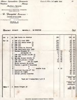 - FACTURE - 03 - COSNE D'ALLIER - R. PASQUIER - Machines Agricoles - 005 - Fatture & Documenti Commerciali