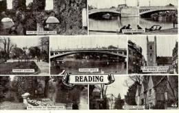 Reading.  Cpa Multivues De Reading En 1948 . - Reading