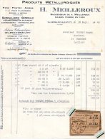 - FACTURE - 03 - SAINT-GERAND Le PUY - H. MEILLEROUX - Quincaillerie Générale - 007 - Fatture & Documenti Commerciali