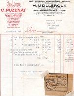 - FACTURE - 03 - SAINT-GERAND Le PUY - H. MEILLEROUX - Quincaillerie Générale - 008 - Factures & Documents Commerciaux
