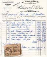 - FACTURE - 03 - MONTLUCON - Porcelaine & Cristaux - PASSARD Frères - 009 - Factures & Documents Commerciaux