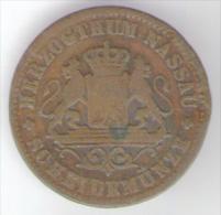 DEUTSCHLAND NASSAU 1 KREUZER 1861 - [ 1] …-1871 : Stati Tedeschi