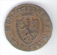 DEUTSCHLAND NASSAU 1/4 KREUZER 1817 - [ 1] …-1871 : Stati Tedeschi