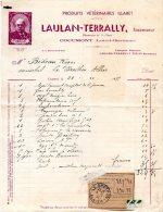 - FACTURE - 47 - COCUMONT - LAULAN-TERRALY - Produits Vétérinaires - 012 - France