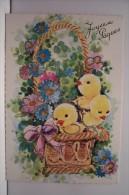 JOYEUSES PAQUES -poussins  N°5  -- Paillettes - Easter