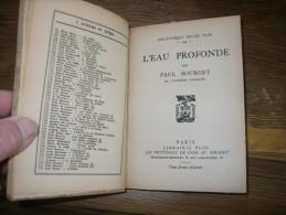 L'eau Profonde   Paul Bourget - Livres, BD, Revues