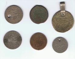 MARRUECOS - MOROCCO -  6 Antiguas Monedas - Marruecos