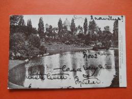 27107 PC: LONDON: Waterlow Park, Highgate: The Lake Showing St. Joseph's Retreat. (Postmark 1903). - London