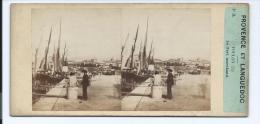 PHOTO STÉRÉO CIRCA 1860 FURNE ET TOURNIER TOULON PORT MARCHAND PROVENCE ET LANGUEDOC N°54 (PORT R2 OFFERT FREE SHIPPING - Stereoscopio