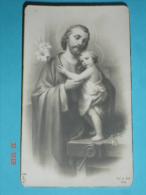 FB   Dep.149 ( Anche 1149 ?) S.GIUSEPPE Falegname,Gesù Bambino  Santino Monocromo -F.lli Bonella - Santini