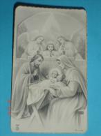 FB   Dep.324 - S. NATALE Gesù Bambino  - GIUSEPPE E MARIA ANGELI -  Santino Monocromo - F.lli Bonella - Images Religieuses