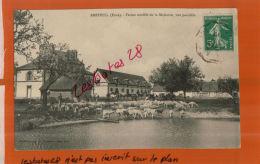 CPA 27, BRETEUIL, Ferme Modèle De La MALTERRE,  Petits  Personnages,  Troupeau De Moutons, Juil  2013 1445 - Breteuil