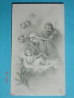 FB 1631 - NATALE Gesù Bambino Con S.GIUSEPPE E MARIA - Santino Monocromo F.lli Bonella - Images Religieuses