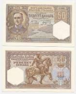 YUGOSLAVIA:  50 Dinara 1.12.1931 UNC *King Alexander * BEAUTIFUL VINTAGE BANKNOTE! - Joegoslavië