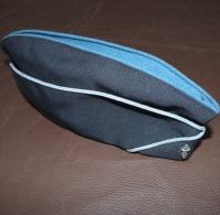Ancien Calot, Bonnet De Police Avec Insigne Flamme, Bleu Marine, Avec Fond Bleu, CRS Cie Républicain Sécurité - Police & Gendarmerie