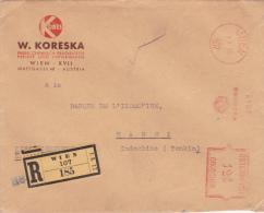 1932 AUTRICHE LETTRE RECOMMANDÉE EMA 124 GROSCHEN > HANOÏ INDOCHINE TONKIN / Vietnam Austria - Brieven En Documenten