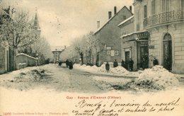 CPA 05 GAP AVENUE D EMBRUN L HIVER 1904 - Gap