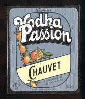 Etiquette Vodka  -  Passion  -  Chauvet   Le Havre (76) - Etiquetas