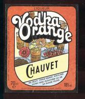 Etiquette Vodka  -  Orange  -  Chauvet   Le Havre (76) - Etiquetas