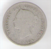CANADA 5 CENTS 1881 AG QUEEN VICTORIA - Canada