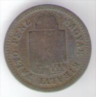 UNGHERIA 1 KRAJCZAR 1883 - Ungheria