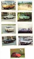 9 Cartes Americana Munich : Fiat 500, 650, 128 Coupé, 850 Spider, ... - Autres Collections