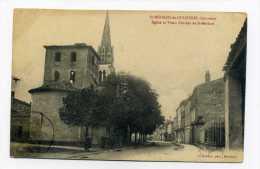 SAINT MEDARD DE GUIZIERES 33 GIRONDE EGLISE ET VIEUX CLOCHER DE SAINT MEDARD - France