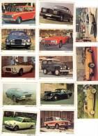 13 Cartes Americana Munich : Voitures Anglaises, Range Rover, Triumph, Jaguar, Austin, Aston Martin, ... - Autres Collections