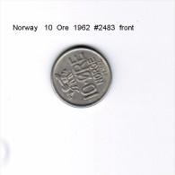 NORWAY   10  ORE  1962  (KM # 441) - Norway