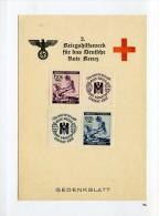 1941 Bes. 2. WK  Böhmen + Mähren Gedenkblatt Rotes Kreuz Minr 62/63 - Occupation 1938-45