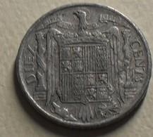 1945 - Espagne - Spain - DIEZ CENTIMOS - KM 766 - [5] 1949-…: Monarchie
