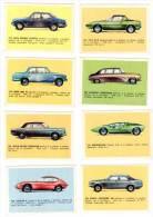 8 Cartes Americana Munich, Automobiles Diverses : Fiat XI/9, Jaguar E, Bmw 2002, Alfa Roméo, Rolls Royce ... - Autres Collections