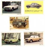 5 Cartes Americana Munich, Automobiles Peugeot (304 Et 504) & Simca 1000, 1501 - Autres Collections